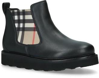 Burberry Kids Hayden Ankle Boots