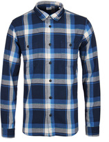 Edwin Blue Wide Check Garment Washed Labour Shirt