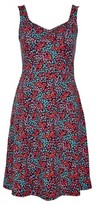 Dorothy Perkins Womens Multi Colour Ditsy Print Fit And Flare Dress
