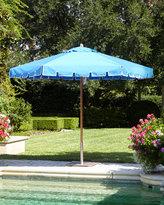 Santa Barbara Designs Blue Keyhole Valance Outdoor Market Umbrella
