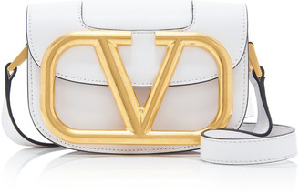 Valentino Garavani Supervee Small Logo Leather Shoulder Bag