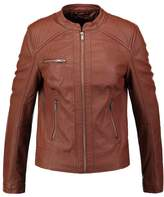 Even&Odd Faux leather jacket cognac