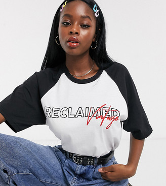 Reclaimed Vintage inspired raglan t-shirt with logo print