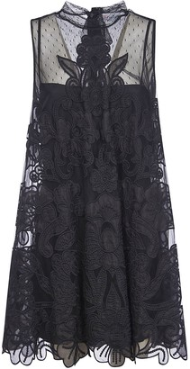 RED Valentino Floral Lace Sleeveless Dress