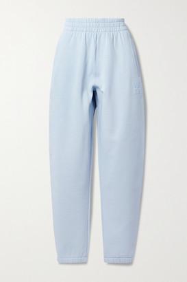 alexanderwang.t Printed Cotton-blend Jersey Track Pants - Sky blue