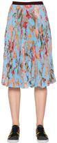 I'M Isola Marras Pleated Floral Techno Chiffon Skirt