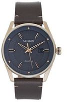Citizen Drive from Eco-Drive Men's CTO Leather Watch - BM6983-00H