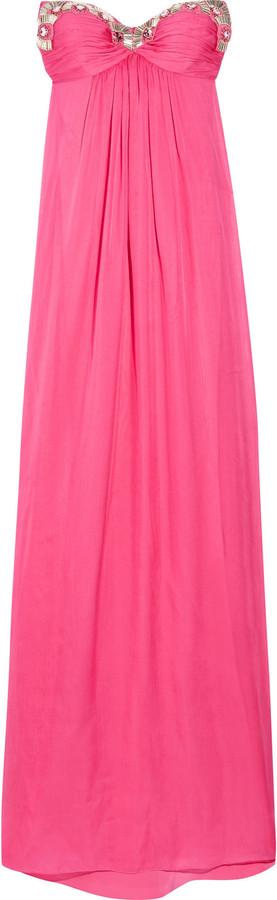 Temperley London Long Liviana silk-chiffon gown