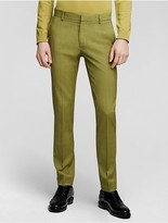 Calvin Klein Collection Overdyed Wool Melange Slim Pant