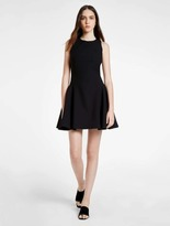 Halston Structured Mini Dress With Back Opening