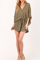 On The Road Batwing Drawstring Romper