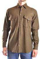 Peuterey Men's Green Wool Shirt.