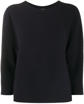 Peserico Cropped Sleeves Jumper