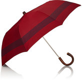 Barneys New York Men's Striped Folding Umbrella-NAVY, RED