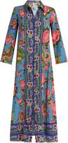 ANJUNA Camelia floral-print silk dress