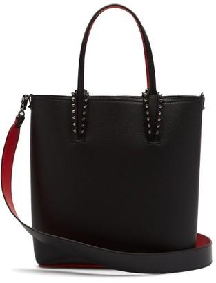 Christian Louboutin Cabata Studded Leather Tote Bag - Black