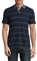 Original Penguin Twill Stripe Polo Shirt