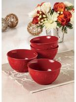 Paula Deen 4-pc. Spiceberry Cereal Bowl Set, Red