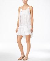 Raviya Crochet-Trim Swing Dress Cover-Up