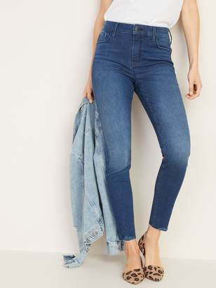 Old Navy High-Waisted Rockstar Built-In Sculpt Raw-Edge Jeans For Women