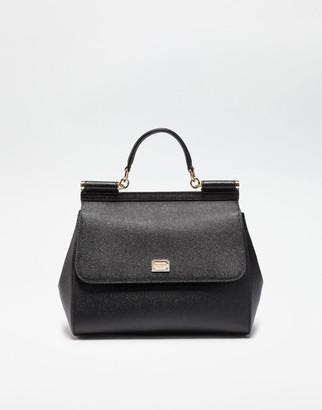 Dolce & Gabbana Dauphine Leather Regular Sicily Bag