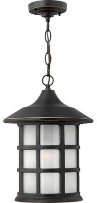 Freeport 1 Light Outdoor Hanging Lantern Hinkley Finish: Olde Penny, Bulb Type: Incandescent