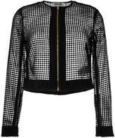 Diane von Furstenberg chain lace jacket - women - Polyester/Viscose/Wool - 10