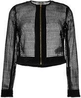 Diane von Furstenberg chain lace jacket - women - Polyester/Viscose/Wool - 8