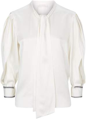 Peter Pilotto Pleated Sleeve Pussybow Blouse