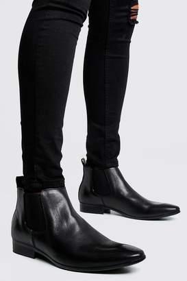 boohoo Leather Look Chelsea Boots