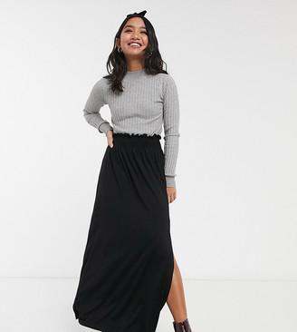 Asos DESIGN Petite shirred waist maxi skirt