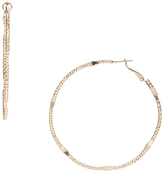 Carole Goldtone Twisted Hoop Earrings