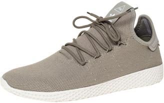 adidas Pharrell Williams x Chalk Green Cotton Knit PW Tennis Hu Sneakers Size 46