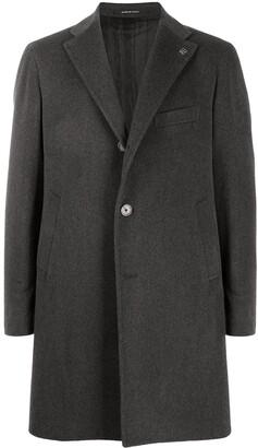 Tagliatore Logo Plaque Single-Breasted Coat