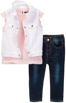 7 For All Mankind Vest, Tee, & Jean 3-Piece Set (Baby Girls)