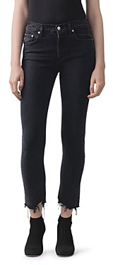 AGOLDE Toni Mid-Rise Slim Straight Jeans in Feral