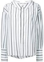 G.V.G.V. striped bow detail shirt