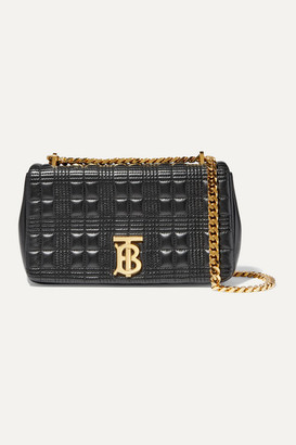 Burberry Lola Small Quilted Leather Shoulder Bag - Black