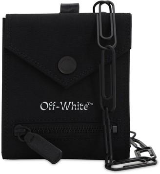 Off-White Logo Bi-Fold Leather Chain Wallet