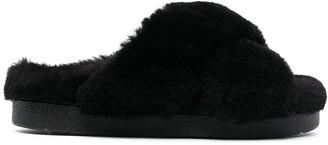 INUIKII Shearling Slip-On Sandals