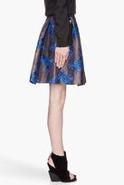 Christopher Kane Blue floral Print Princess Skirt