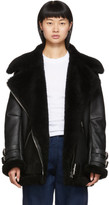 Acne Studios Black Shearling Aviator Jacket