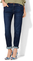 New York & Co. Soho Jeans - Zip-Accent Boyfriend - Highland Blue Wash