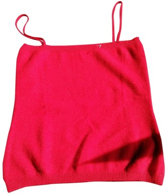 Non Signé / Unsigned Non Signe / Unsigned Red Cashmere Top for Women