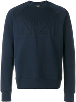 No.21 logo embroiderd sweatshirt - men - Cotton - XS