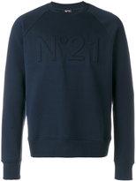 No.21 logo embroiderd sweatshirt