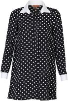 House of Fraser Jolie Moi Contrast Collar Long Shirt