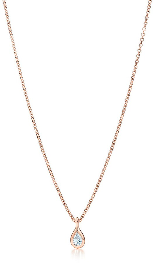e9668c75318dc Elsa Peretti Diamonds by the Yard pendant in 18k rose gold