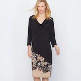 Anne Weyburn Printed Crpe Knit Dress
