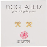 Dogeared 14K Gold Plated Sterling Silver Bow Earrings